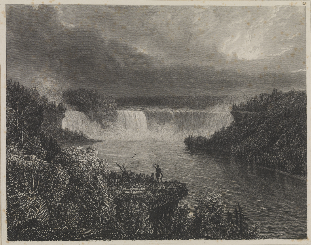 [A Distant View of the Falls of Niagara]