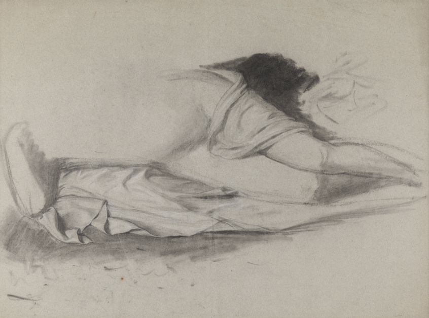Study for Ariadne (study for torso and drapery)