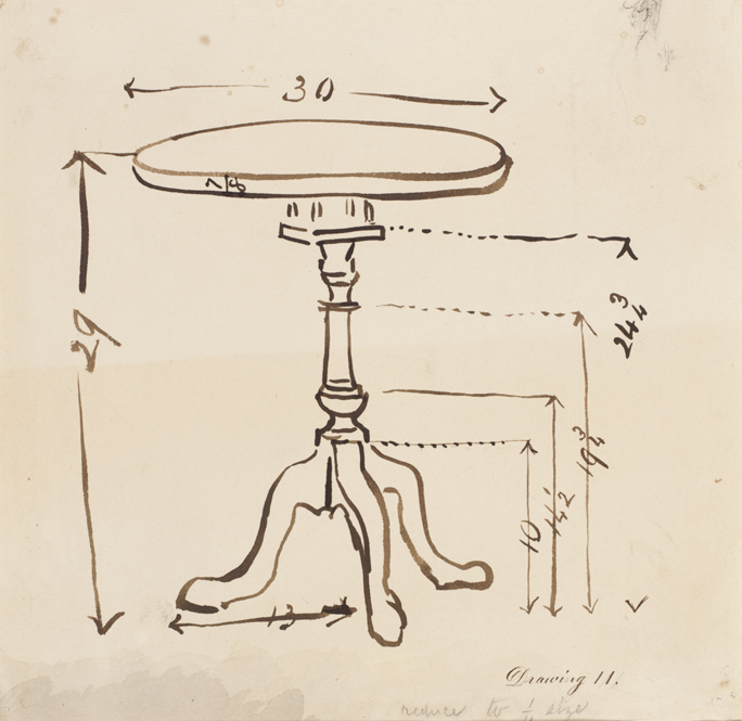 round table drawing drawing 11 measured sketch of round top table pafa 7032
