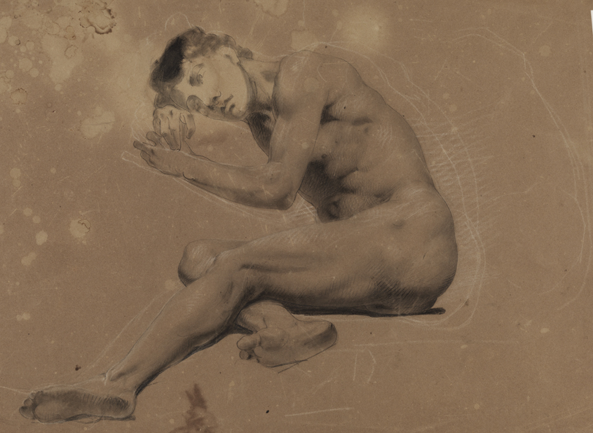 Reclining male nude a study for the good samaritan