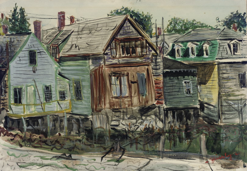Maine Scene (shacks)