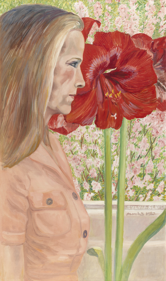 Self Portrait with Amaryllis