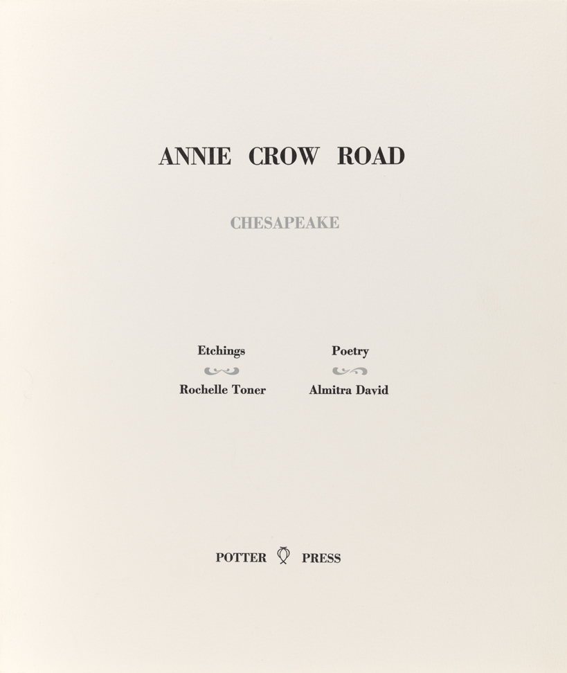 Annie Crow Road. Chesapeake (Title page)