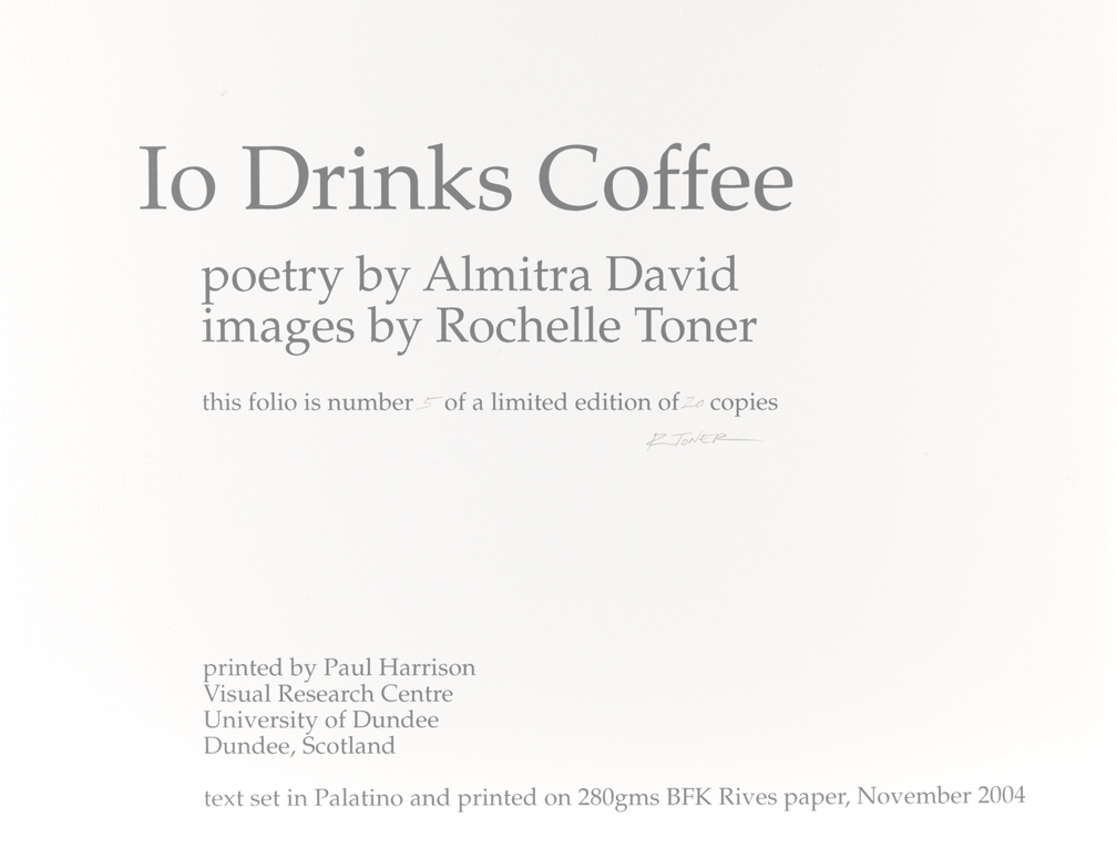 Io Drinks Coffee, (Title page)