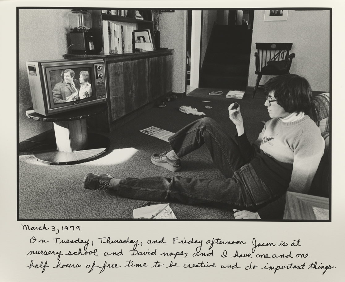 """Self-Portrait Watching the Soaps"" March 3, 1979"