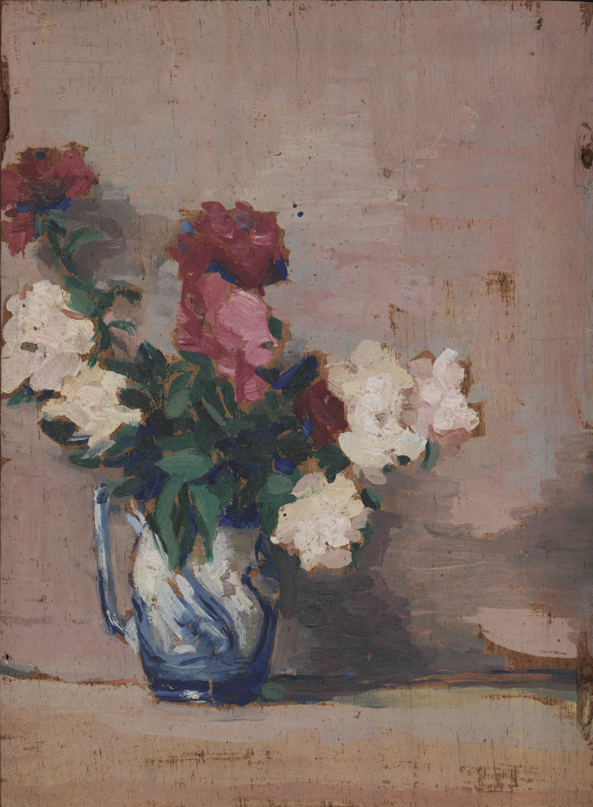 (Still life of vase of flowers)