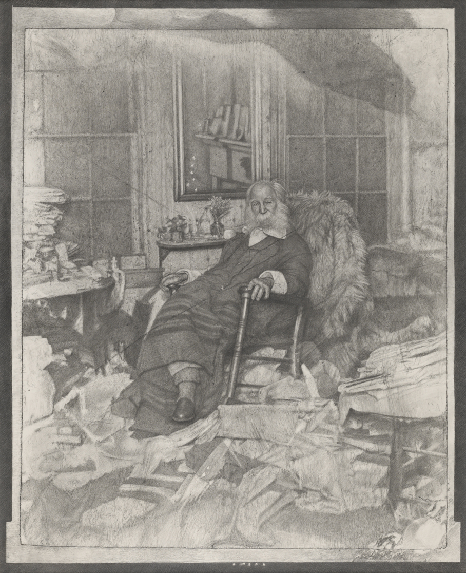 The Poet in His Bedroom or Walt Whitman in repose amongst a chaos of papers in Camden in 1891