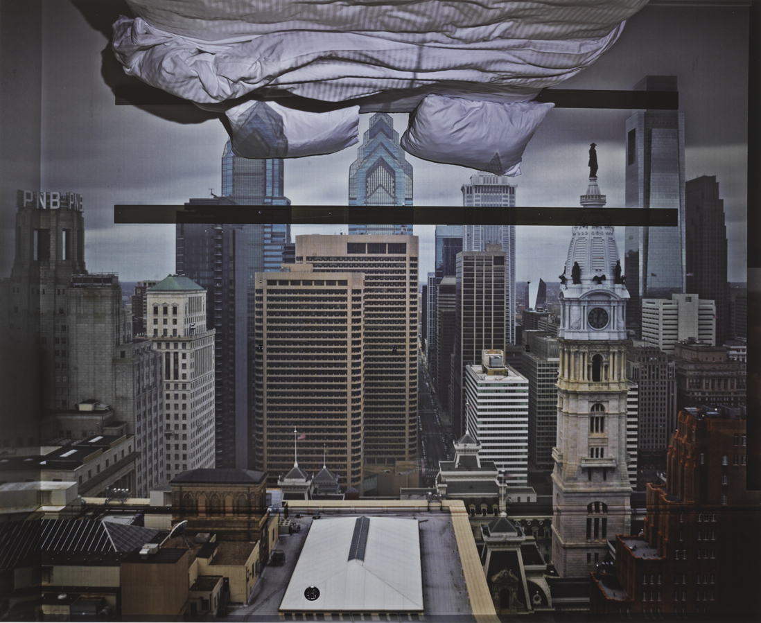 Camera Obscura: View of Philadelphia from Loews Hotel Room 3013 with Upside Down Bed