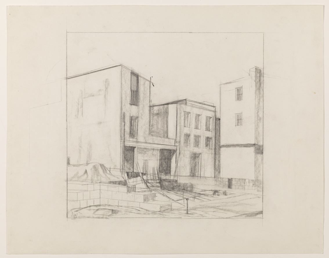"Untitled, study for ""Construction Site"""
