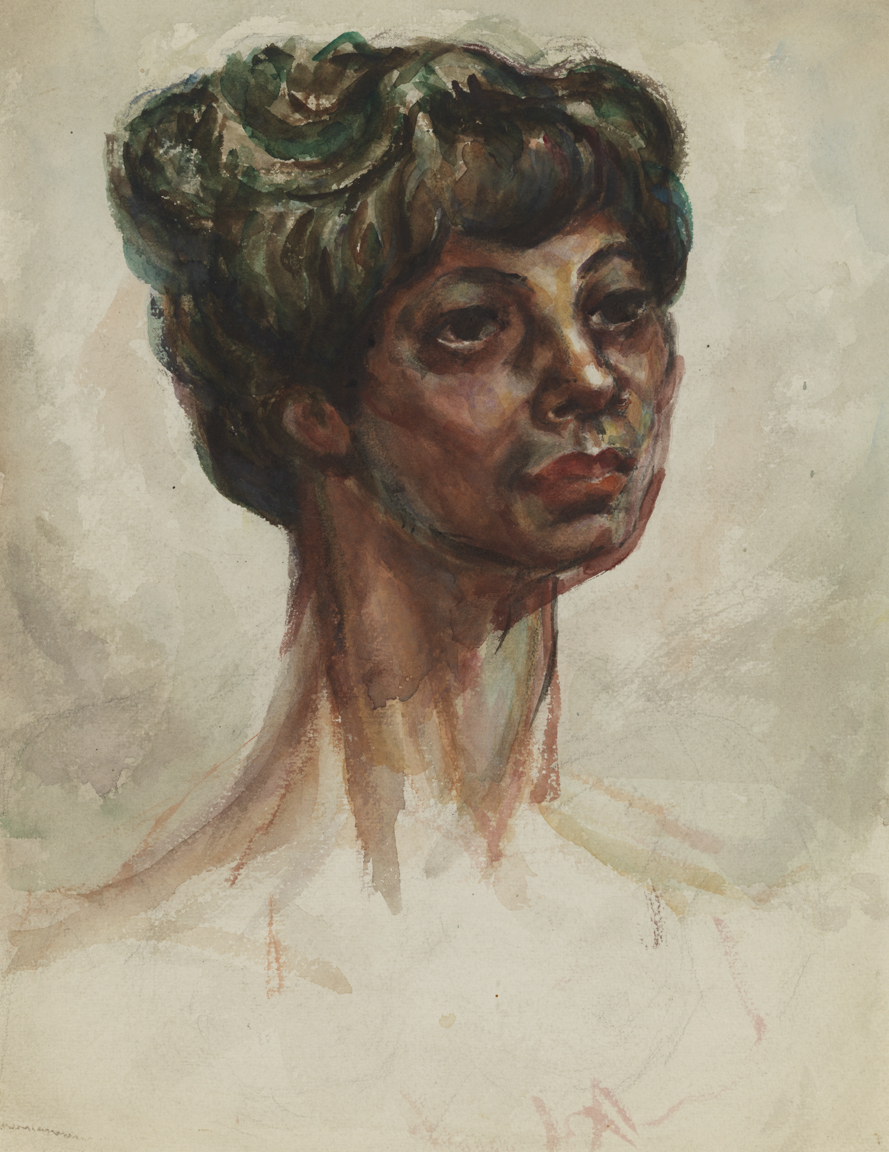 Untitled [Head of woman with hair back]