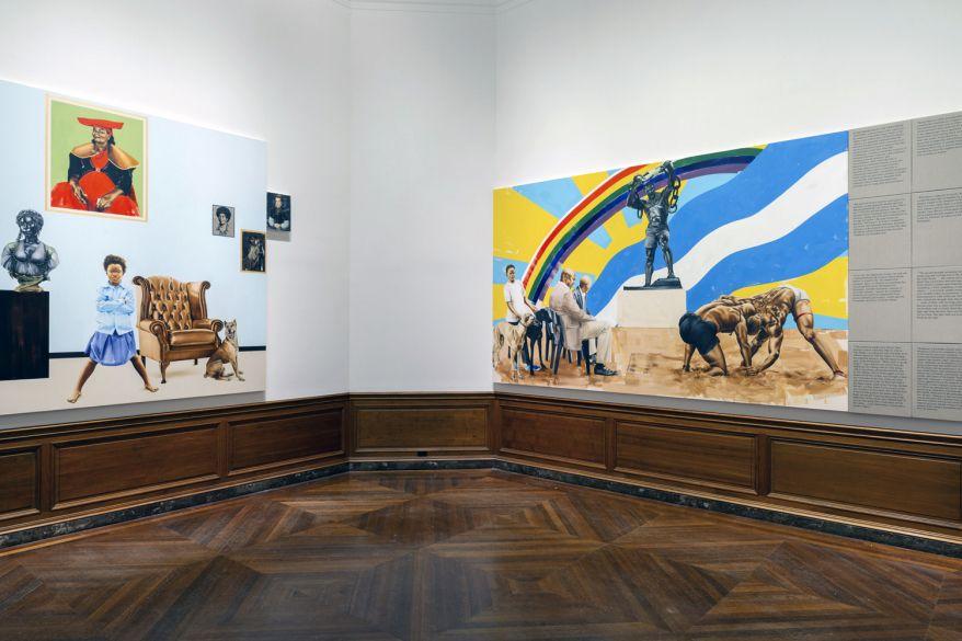 Meleko Mokgosi, Acts of Resistance, Installation View (2018).