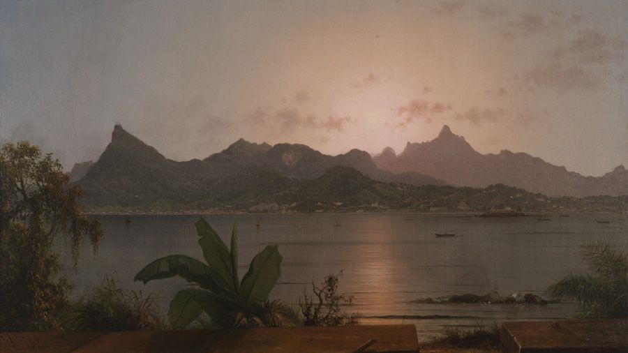 Martin Johnson Heade (1837 - 1926), Sunset Harbor at Rio, 1864, Oil on canvas, 20 1/8 x 35 in.