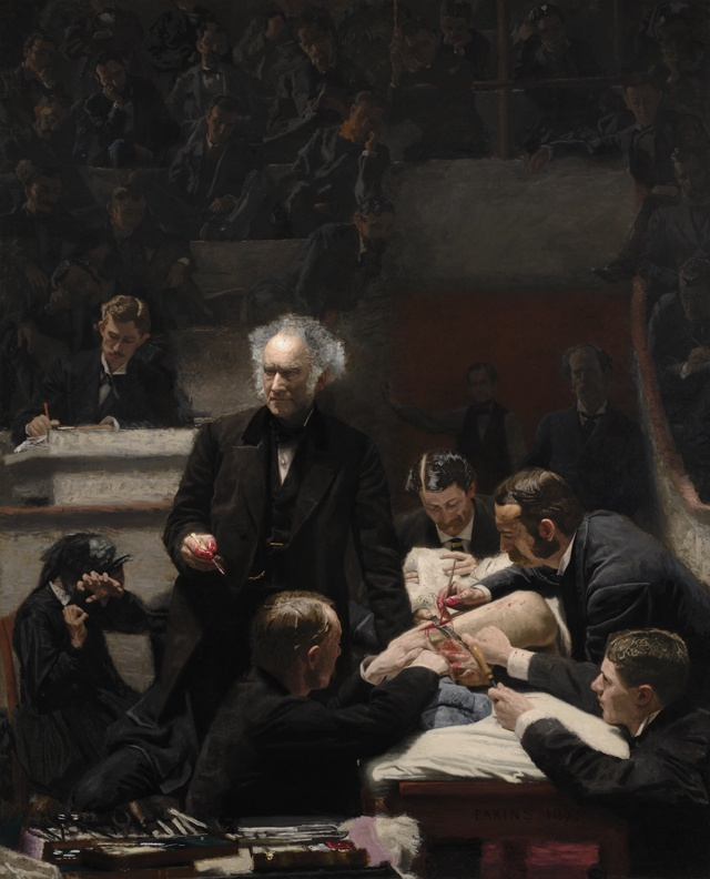 Thomas Eakins, Portrait of Dr. Samuel D. Gross (The Gross Clinic), 1875, Oil on canvas, Gift of the Alumni Association to Jefferson Medical College in 1878, purchased by PAFA and the Philadelphia Museum of Art in 2007 with help of more than 3,400 donors