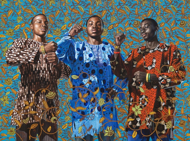 Kehinde Wiley, Three Wise Men Greeting Entry Into Lagos, 2008