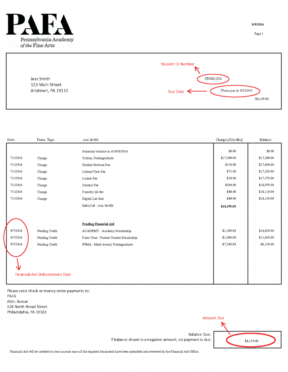 how to make a billing statement