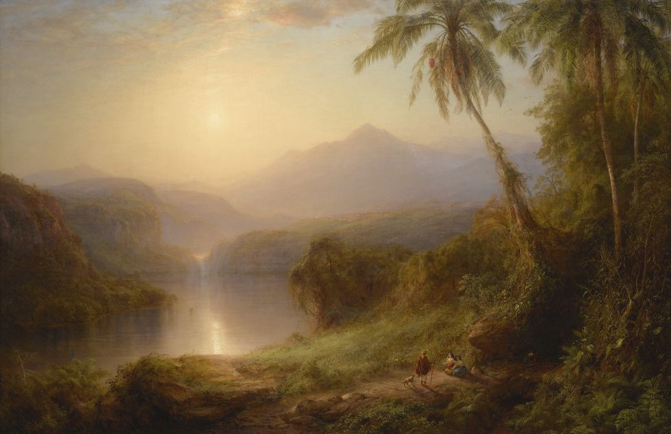 "Frederic Edwin Church, ""Valley of Santa Isabel, New Granada"" (1875)"