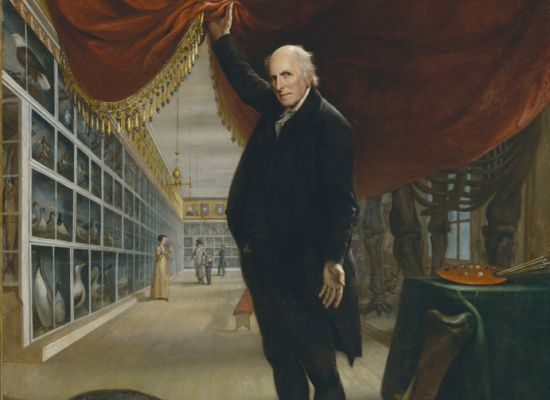 "Charles Willson Peale, ""The Artist in His Museum"" (1822)"