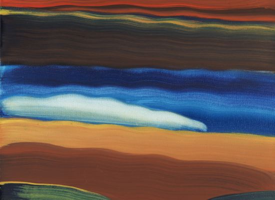 "Elizabeth Osborne, ""COZZ"" (2013). Acrylic on board, 16 x 16⅙ x 1 7/16 inches. Gift of the Fishman/MacElderry Collection."