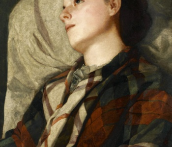 <p>Susan Macdowell Eakins (1851-1938), Girl in a Plaid Shawl, ca. 1880-85, Oil on canvas, 28 1/16 x 21 in., Charles Bregler's Thomas Eakins Collection, purchased with the partial support of the Pew Memorial Trust and the Henry C. Gibson Fund, 1985.68.39.6</p>