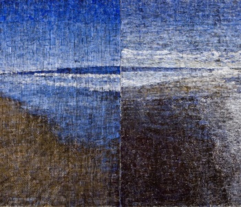 <em>Amagansett Diptych #1</em>, 2007-08, oil on two canvases, 108 x 216 in. overall, Collection of the artist, New York