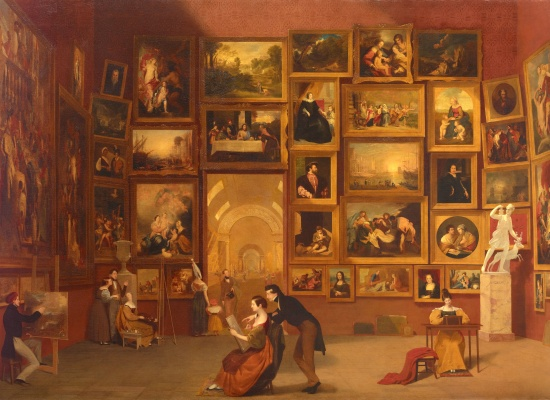 Samuel F. B. Morse, <em>Gallery of the Louvre</em>, 1831-33, Oil on canvas, 73 ¾ x 108 in., Terra Foundation for American Art, Chicago, Daniel J. Terra Collection, 1992.51