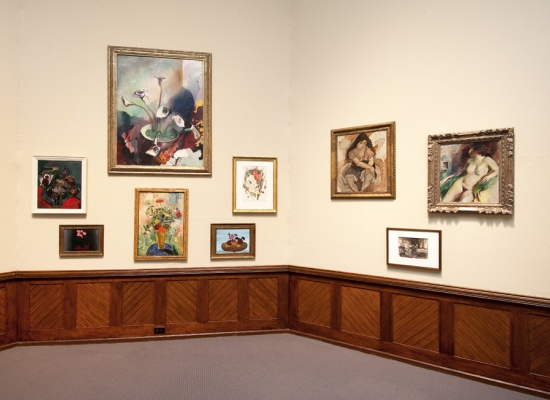 Installation view of <em>PAFA and Dr. Barnes</em>, 2012, Photo by Rick Echelmeyer