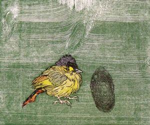 Dan Miller, The Rare One, Woodblock Print
