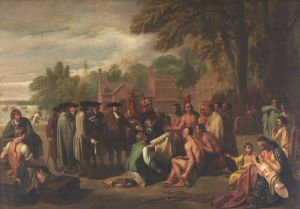 Penn's Treaty with the Indians, Benjamin West, 1771-72,  Pennsylvania Academy of the Fine Arts, Gift of Mrs. Sarah Harrison (The Joseph Harrison, Jr. Collection)