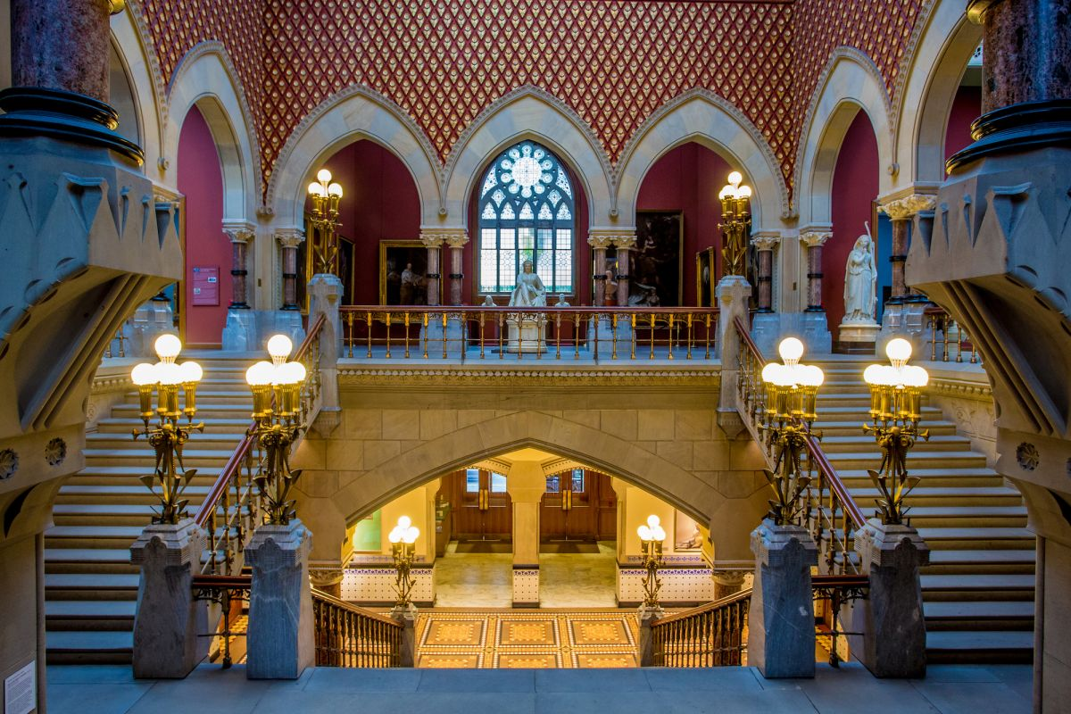 Grand Stairway of the Historic Landmark Building. Image: Jeff Fusco / Pennsylvania Academy of the Fine Arts