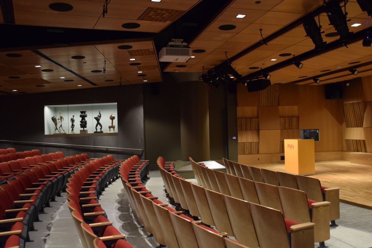 Interior view of the John & Richanda Rhoden Arts Center, located inside the Samuel M.V. Hamilton Building. / Image: LeAnne Matlach / Pennsylvania Academy of the Fine Arts