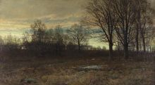 William Trost Richards, February, 1887, Oil on canvas mounted on wood, 40 1/4 x 72 in., Gift of Mrs. Edward H. Coates (The Edward H. Coates Memorial Collection), 1923.9.5
