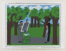 Faith Ringgold, Henry Ossawa Tanner; His Boyhood Dream Comes True, 2010, Serigraph, ed. of 100, 22 x 30 in., 2012.2,Copyright © 2010 Faith Ringgold