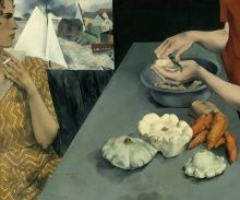 Peter Blume, Vegetable Dinner, 1927, oil on canvas, 25 1/4 x 30 1/4 in.