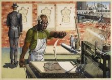 Ron Adams, Blackburn, 2002, Lithograph, 25 x 35 in., The Harmon & Harriet Kelley Collection of African American Art