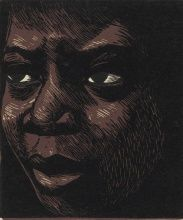 Elizabeth Catlett, I am the Negro Woman, 1947, Linocut on paper, 5 1/2 x 5 in., Art by Women Collection, Gift of Linda Lee Alter, 2011.1.172 Art © Catlett Mora Family Trust/Licensed by VAGA, New York, NY