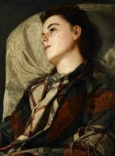 Susan Macdowell Eakins, Girl in a Plaid Shawl, ca. 1880-85, Oil on canvas, 28 1/16 x 21 in., Charles Bregler's Thomas Eakins Collection, purchased with the partial support of the Pew Memorial Trust and the Henry C. Gibson Fund, 1985.68.39.6