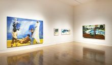 Installation view of Dive Deep: Eric Fischl and the Process of Painting, 2012