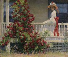 Philip Leslie Hale, Crimson Rambler, ca. 1908, Oil on canvas, 25 1/4 x 30 3/16 in., Joseph E. Temple Fund, 1909.12