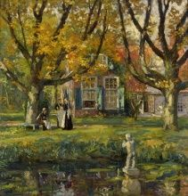 Gari Melchers, My Garden, 1900‒1903, Oil on canvas, 41 × 40 in., Collection of The Butler Institute of American Art, Youngstown, OH, Museum Purchase, 1922