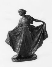Bessie Potter Vonnoh, Dance, 1910, Bronze with brown-and-green patina; lost-wax cast possibly in 1913, 12 x 10 5/8 x 4 3/4 in., Henry D. Gilpin Fund, 1973.24