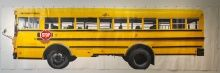 Yunfeng Wang, School Bus, 2013, Acrylic on paper, mounted on canvas, 98 3/4 x 339 1/2 in., Museum Purchase, 2013.16