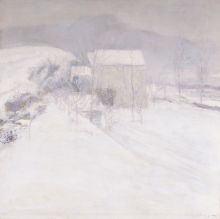 John H. Twachtman (1853-1902), Snow, ca. 1895-96, Oil on canvas, 30 x 30 in., The Vivian O. and Meyer P. Potamkin Collection, Bequest of Vivian O. Potamkin, 2003.1.10