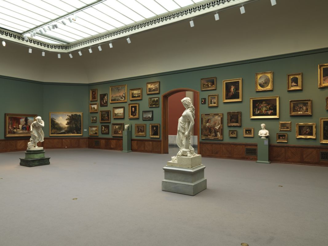 Installation view of A New Look: Samuel F.B. Morse's Gallery of the Louvre, 2013, Photo by Barbara Katus