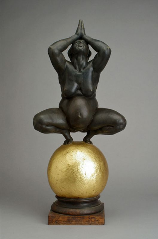 Temple - 30 inches H. 2009 bronze