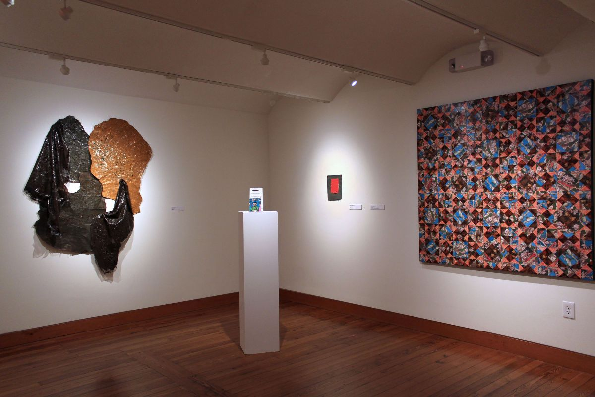 Installation shot of Material World Exhibition in the Richard C. von Hess Works on Paper Gallery