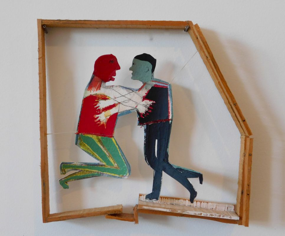 Kate Moran_Red Man and Green Man are Fighting Over an Imaginary Room