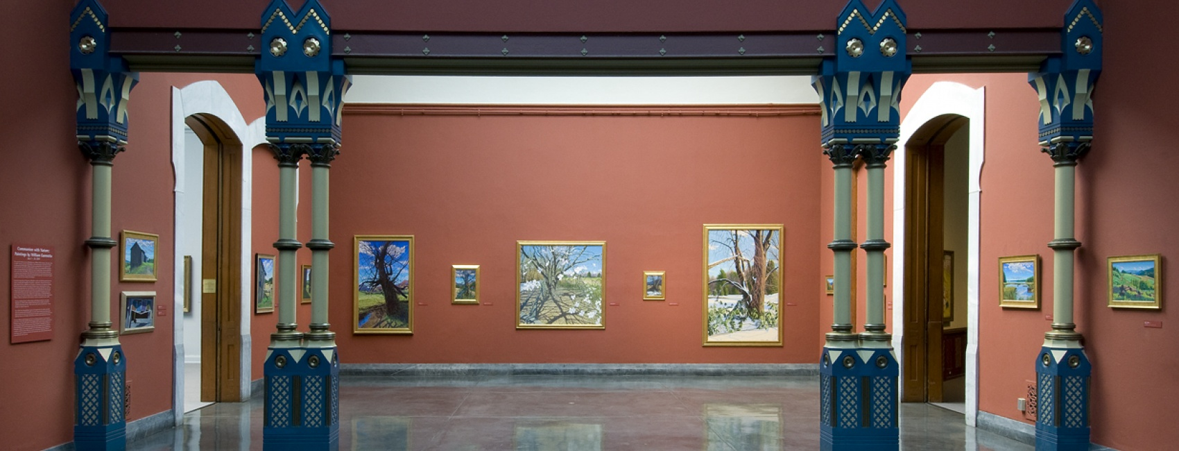 Installation view of <em>Communion with Nature: Paintings by William Gannotta</em>, 2009, Photo by Rick Echelmeyer