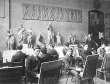 A drawing class from 1901.