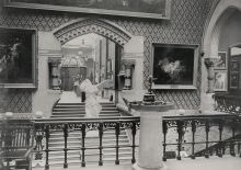 Historical installation photograph of PAFA's Annual Exhibition.