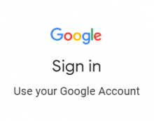 Google Log In Page